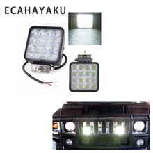 цена ECAHAYAKU 2Pcs 4inch 48W Offroad LED Work Light bar Flood Spot Beam 12V 24V for Jeep UAZ 4WD Boat SUV ATV Truck 4x4 Motorcycle