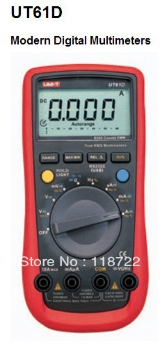 Digital Multimeter UNI-T UT61D True RMS Auto Range 6000 Counts Modern Digital Multimeters ACDC Meter CD Backlight  цены