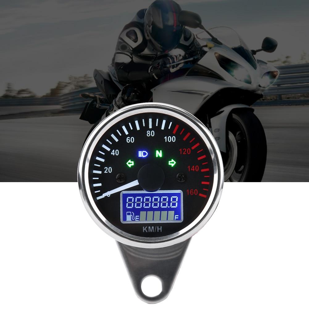 Keenso Universal DC 12V Motorcycle Digital Colorful LCD Speedometer Odometer Tachometer W//Speed Sensor
