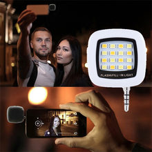 NEW Portable Rechargeable 16 Selfie Flash LED Camera Lamp Light For iPhone Samsung HTC LG Xiaomi mobile Phones Lens 3.5mm Jack(China)