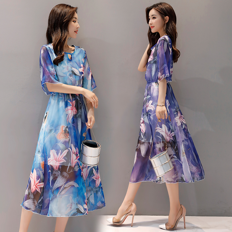 plus big size women clothing 2017 spring autumn winter korean vestidos Bohemian beach flower dresses female dess X0018