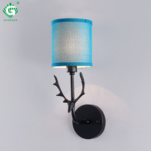 Creative bedside wall lamp E27 Bulb stair White Black Gold interior sconce Light in the nursery mirror industrial Lighting