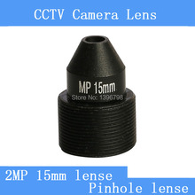 surveillance infrared camera HD 2MP pinhole lens 15mm M12 thread CCTV lens
