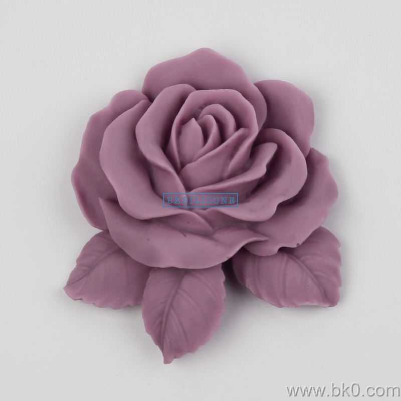 BJ005 big rose blume Silikon 3D Form Kuchen Dekoration Fondant keks Formen seife schokolade Mould