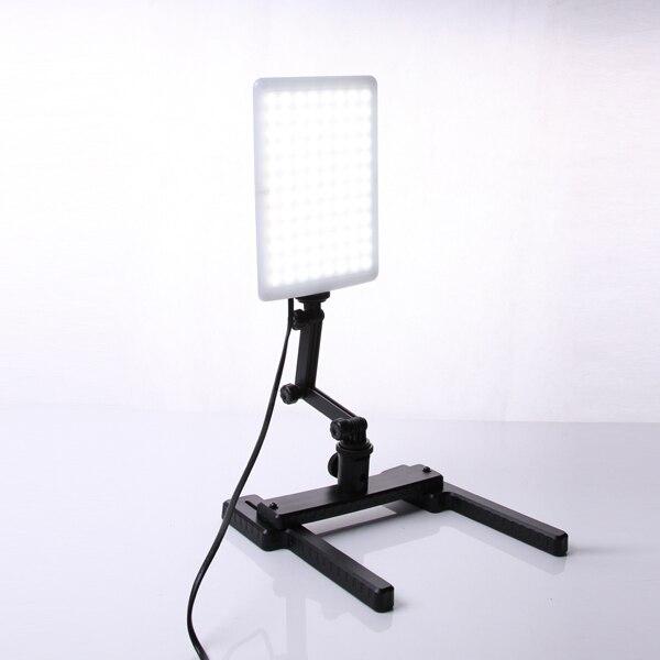 Profesional cn-t96 5600 K 96 unids luz LED lámpara 18 W con mini Tiro soporte conjunto Iluminación fotográfica Kit