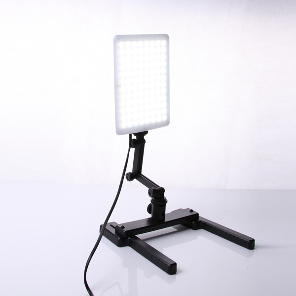 Profesional CN-T96 5600 K 96 unids lámpara de luz LED 18 W con Mini tiroteo soporte conjunto fotográfico Kit de iluminación