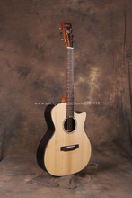 Professional 40 Cutaway Acoustic Guitars With 20mm cotton bag,Solid Spruce Top/Rosewood Body guitarra chinese takamine p3dc dreadnought cutaway