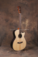 Professional 40 Cutaway Acoustic Guitars With 20mm cotton bag,Solid Spruce Top/Rosewood Body guitarra chinese