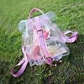 Estilo do verão Geléia Transparente Sacos de praia À Prova D' Água PVC Transparente Personalizado Mochilas