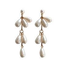 Pearl earring female Fashion simple pearl stud earrings for women Imitation pearl font b gold b