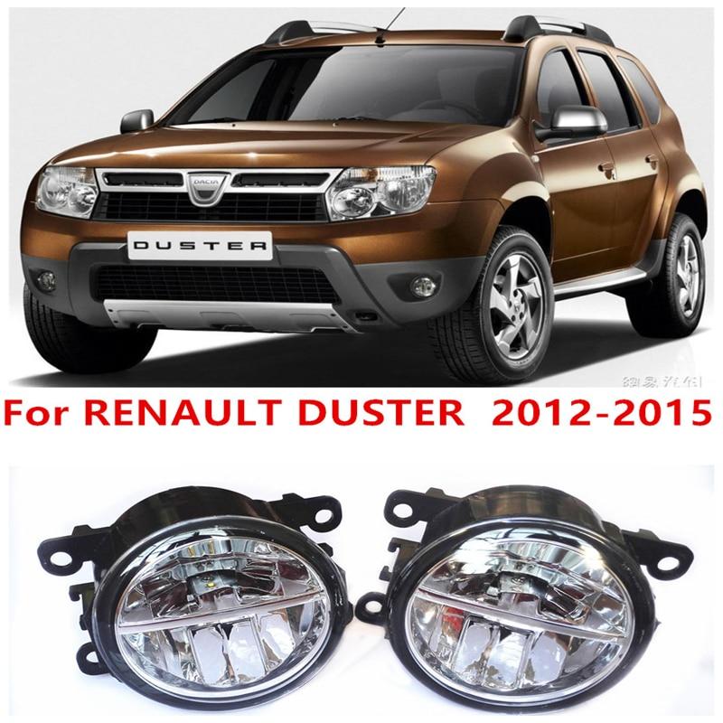 For RENAULT DUSTER  2012-2015 10W Fog Light LED DRL Daytime Running Lights Car Styling lamps renault duster в нижнем новгороде где купить