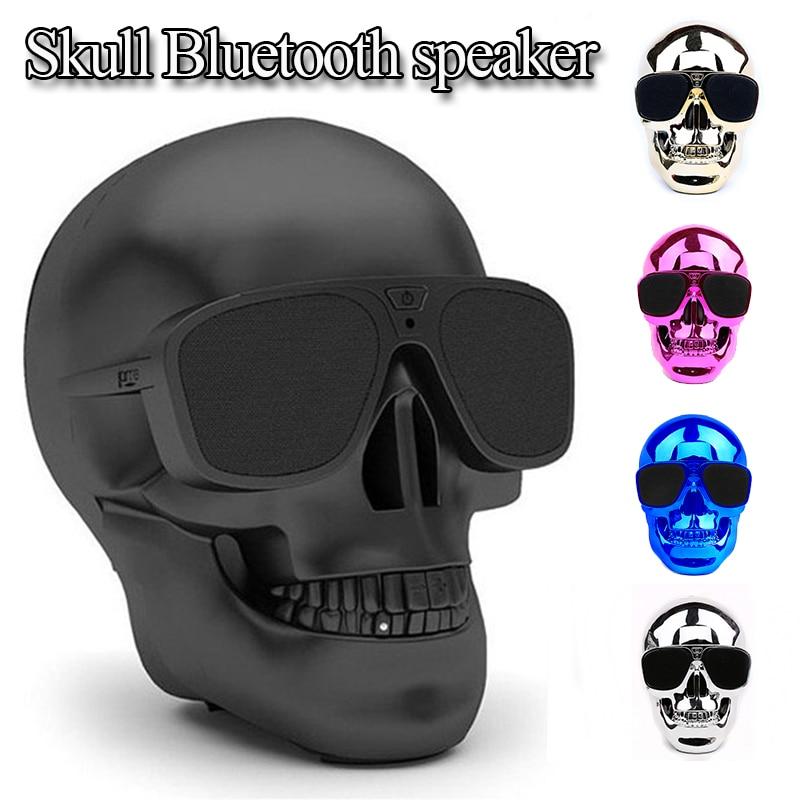 უსადენო სათვალე Skull Bluetooth სპიკერი ბასი ჰელოუინი მულტფილმი საჩუქარი მინი თავის ქალა ფორმის ფორმა პორტატული iphone კომპიუტერის xiaomi