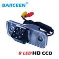Ccd стекло материал объектива Автомобильная камера заднего вида для движения задним ходом красочное ночное видение + 8 светодиодных ламп для ...