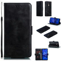 Flip Leather Phone Case For Huawei Mate 10 20 Lite Cover Pro Portable Wallet Solid color