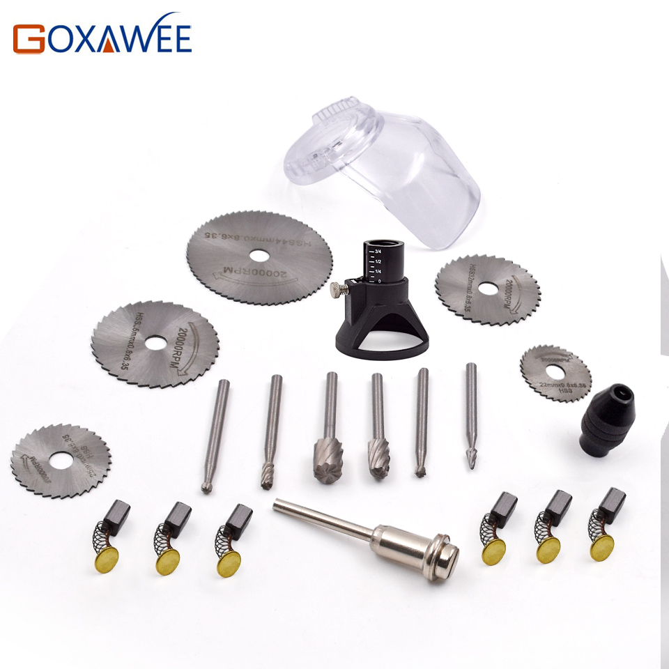 GOXAWEE 21pcs Electric Drill Rotary Tools Mini Drill Tools For Woodworking Drill Bit Set Wood Tools For Dremel Accessories