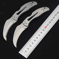 NEW SALE Folding Knife CPM S30v Blade All Steel Handle Full Gear Outdoor Tactical Multitool Camping