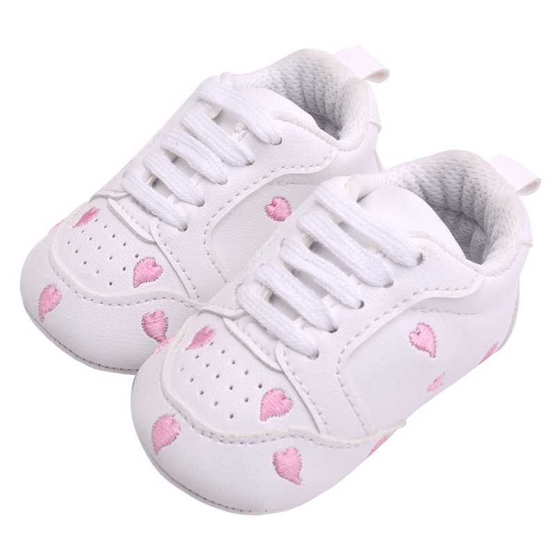 b09c4ecf910 ... 2019 Baby Girl Shoes Baby Moccasins Infant Sneakers Heart Star First  Walker Toddler Soft Sole Crib ...
