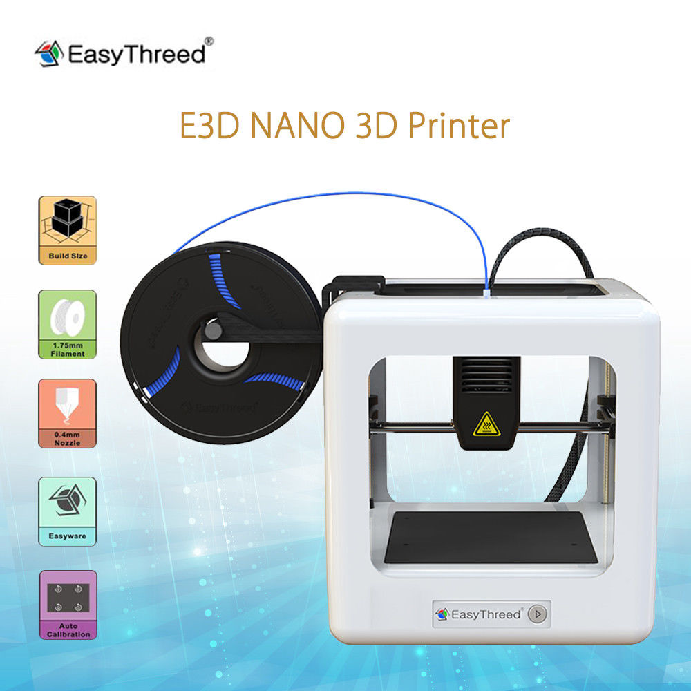 Keyes Easythreed E3D NANO Educational Mini 3D Printer 1.75mm PLA Filament High Precision DIY Kit for Arduino free shipping keyes kt0044 electronic blocks kit