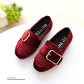 YNB Leather Tassel Spring Girls Shoes 2017 New Arrival Solid Children Single Shoes for Girls Brand Slip On Casual Shoes Sneakers