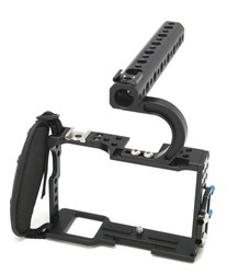 Professional Protective Housing Case Handle Grip Rugged Cage Combo for A7,A7r,A7s DSLR Rig Digital Camera F14144