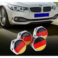 Car Stickers GERMAN Flag Metal Alloy Car License Plate Bolts with Gasket Car Styling Accessory 4PCS/Set