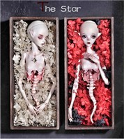 SuDoll bjd sd dolls The Moon and The Star ( two head + one body) high quality