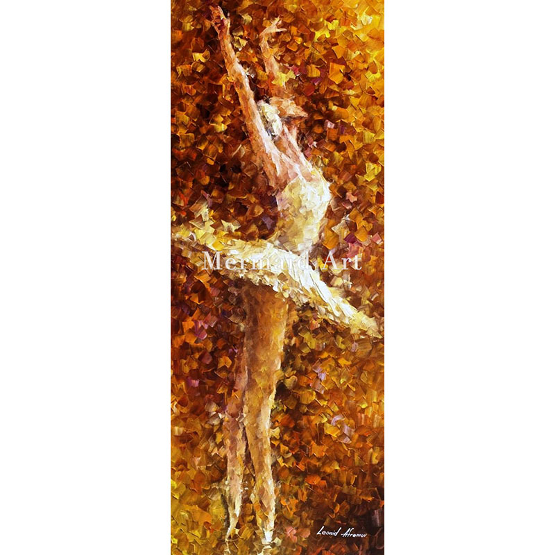 Hand Painted Landscape High Quality Abstract Palette font b Knife b font Ballet Of The Soul