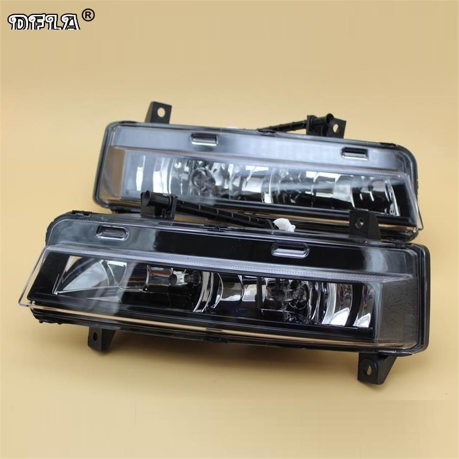 For Skoda Octavia A7 Sedan /Combi For RS 2013 2014 2015 2016 2017 Car-Styling Front DRL Daytime Running Light Fog Lamp Fog Light