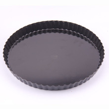Black Cake Mold aluminum alloy Round Plate live bottom Bake Dish Kitchen Gadget Accessories $