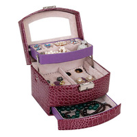 1Pc Jewelry Box Necklace Earring Ring Holder Carrying Case Gift Box Travel Jewelry Display Case Jewelry