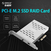 ORICO Desktop Disk Array Card PCI E M 2 SSD Stainless Steel High Speed Raid Hard
