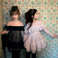 new 2017 spring girls cotton thin dress kids fleece dress lace toddler patchwork dress fashion baby dress,2-10Y