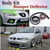 Bumper Lip Deflector Lips For SEAT Cordoba 1993~2010 Front Spoiler Skirt For TopGear Friends Car Tuning View / Body Kit / Strip