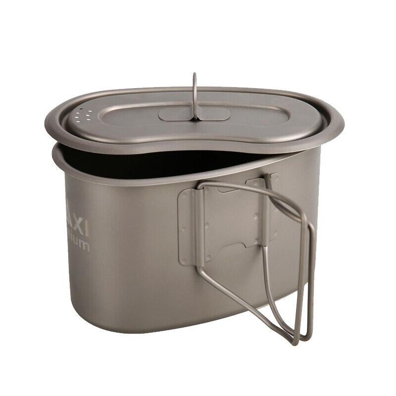 TOAKS et MAXI Single Homme Militaire boîte À Lunch Titane Camping Pot Tasse Survie Mulit Outil 950 ml