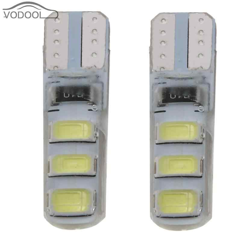 2Pcs 5W 6LEDs 5730 SMD W5W T10 Car Width Light Bulb Silicone LED Automobiles Light-emitting Diode Clearance Lamp 6000K
