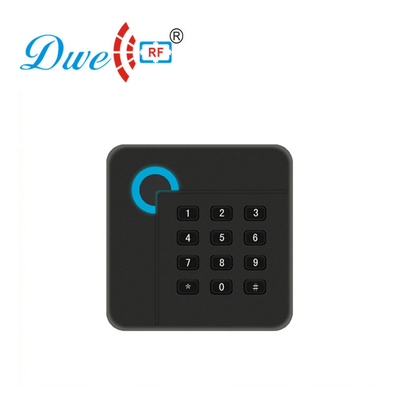 DWE CC RF 125khz TK4100 EM ID RFID Card Reader For Access Control System With 13.56mhz Wiegand Black Proximity Scanner D402 цена и фото
