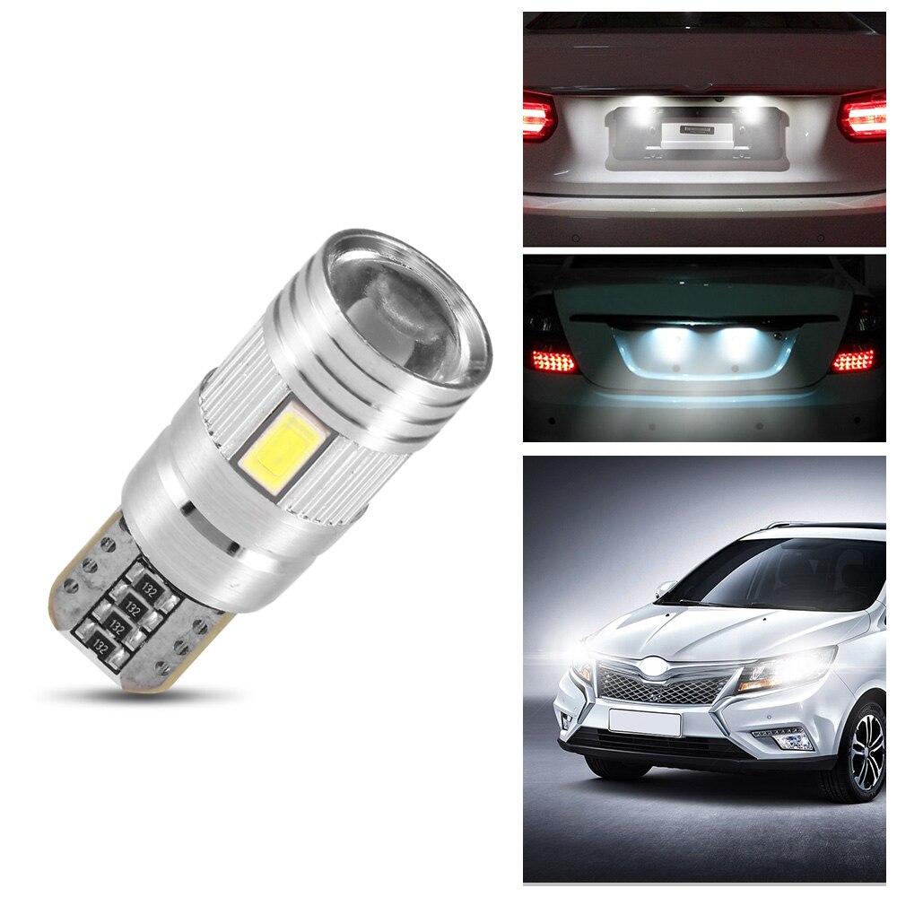 4pcs T10W5W168 Car Error free LED Bulb 5630SMD Cool White Parking Light Wedge Reading Light Width Light 7000K 12V Car-Styling