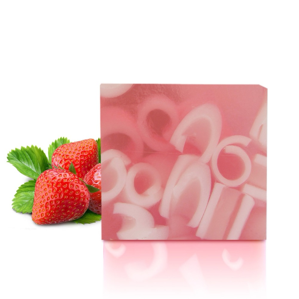 Organic Handmade Soap Bars Natural Strawberry Skin Whitening Essential Oil Soaps Moisturizing Cleaning Bath And Body Works