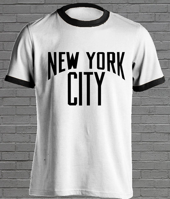 New York City Retro T shirt Vintage Tshirt Old School T shirt moletom do  tumblr t shirt casual tops tees Unisex ringer fashion d5fd510fe76