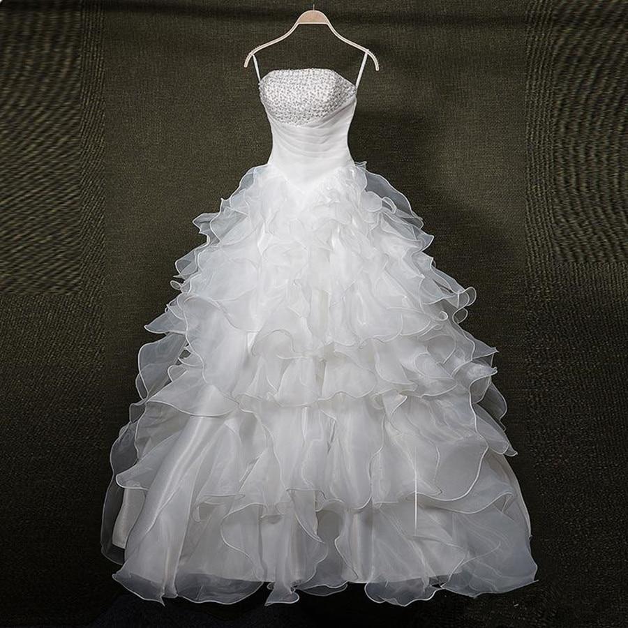 Ball font b Gown b font 2017 Ruffles Organza Long font b Wedding b font Dresses