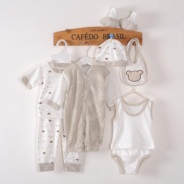 8PCS/Set 2016 Cotton Sets Boys Girls Brand Baby Clothing Cartoon Newborn Gift Set Underwear Cute Baby Suit High Quality Material