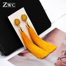 ZWC Vintage Charm Long Tassel Earrings for Women Style 4109ff9232ea