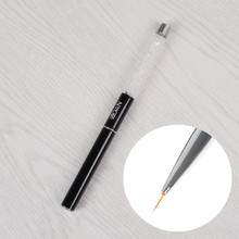 1pc Acrylic Liner Drawing Brush Nail Art Manicure Tool Crystal Handle