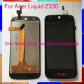 """Высокое Качество Черный 4.5 """"для Acer Liquid Z330 Полный ЖК-Экран Дигитайзер С Сенсорным Экраном Полной Сборки Кода Отслеживания"""