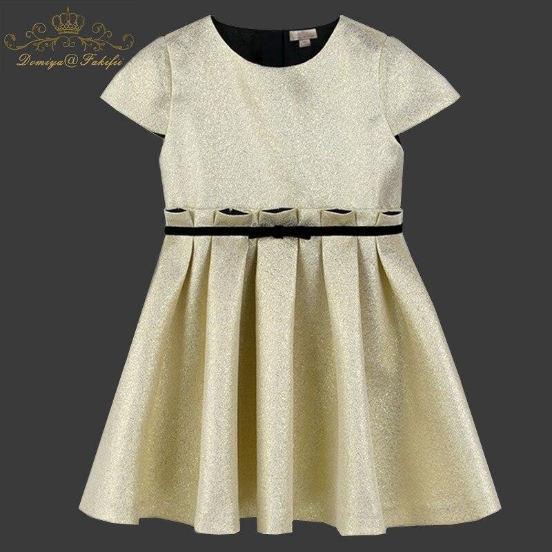 Domiya&Fakifii Girl Dress Princess Costume 2018 Brand European and American Style Gold Kids Clothes Girls Dresses Children Dress domiya