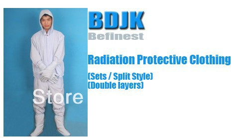 Radiation Protective Clothing Sets with 2 Layers Fabric Protection Suit and Working Clothes Free ship