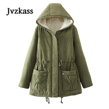 Jvzkass 2019 new winter version of the plus size women cashmere lambs thickening coat in long paragraph jacket Z50