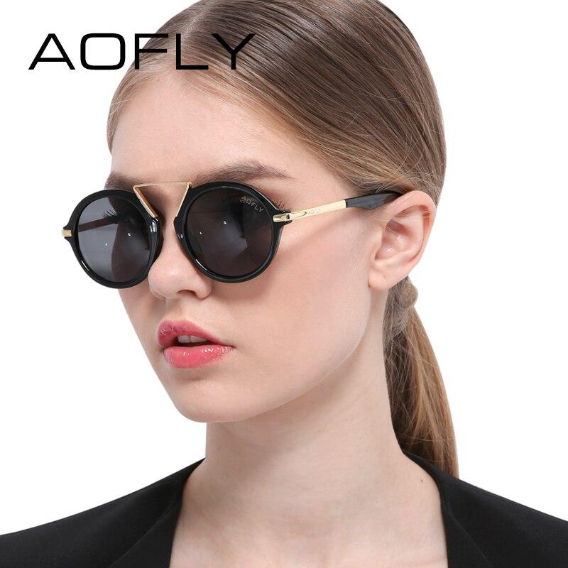 AOFLY Original Fashion Summer Oval Sunglasses Brand Sun glasses for Women Vintage Glasses Women Men Sunglasses