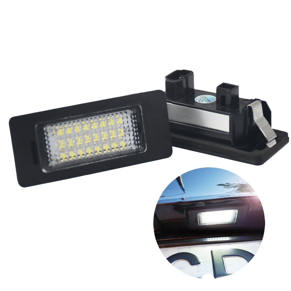 2PCS Led License Plate Light 12v White 6000K For BMW E39 M5 E82 E88 E36 E39 E46 E60 M5 E61 E90 E91 E93 X5 E70 E71 E72 X6 e cap aluminum 16v 22 2200uf electrolytic capacitors pack for diy project white 9 x 10 pcs