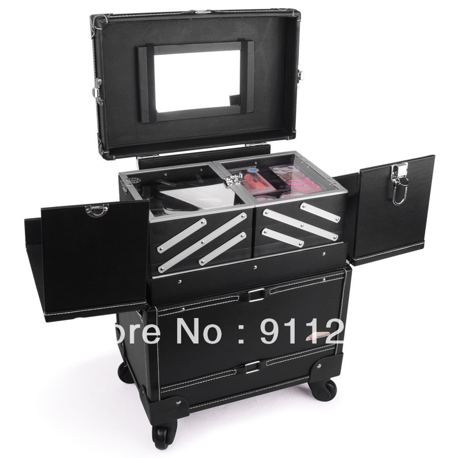 the best professional professional cosmetic salon makeup beauty case trolley cosmetic case. Black Bedroom Furniture Sets. Home Design Ideas